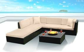 modern outdoor sectional. Outdoor Patio Wicker Furniture Sofa Sectional 6pc Couch Set Modern