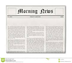 Newspaper Headline Template Newspaper blank template stock illustration Illustration of 1