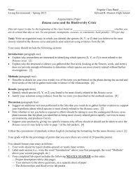 biodiversity lab report guidelines