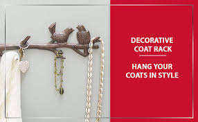 The key in lock wall hooks by lavish homethe key in lock wall. Amazon Com Cast Iron Birds On Branch Hanger With 6 Hooks Decorative Cast Iron Wall Hook Rack For Coats Hats Keys Towels Clothes 18 5x2x4 5 Rust Brown Office Products