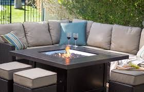 modern patio and furniture medium size patio dining set with fire pit table raised propane