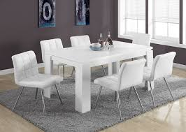 amazon monarch specialties white leather look chrome metal 2 piece dining chair 32 inch kitchen dining