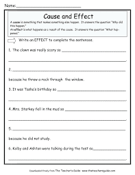 cause and effect worksheets – streamclean.info