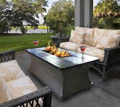 gas fire pit table give the warmth in the coldness the new way home decor