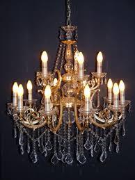 Casa Padrino Barock Kristall Kronleuchter 15 Flammig Gold Modk5 Hängeleuchte Lüster Hängelampe Deckenlampe