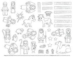 Nativity Coloring Pages Free Line Drawing Manger Scene 766 Get
