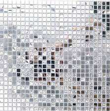 13 beveled Silver crystal mirror glass mosaic tiles kitchen backsplash  bathroom shower hallway showroom cabinet decorate wall-in Wallpapers from  Home ...