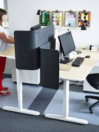 desks cubicles and birches on pinterest bekant desk sit stand screen