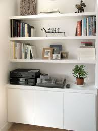 office shelving ideas. Alcove Storage Idea Plain White Office Shelving Ideas