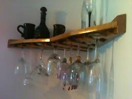 mounted stemware rack furniture wall wine glass shelf