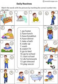 th  do daily routines essay partner pairs tell daily routine cartoon story groups of 3 group 1 every monday