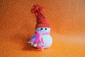 a snowman made from a sock