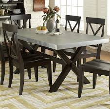 Metal And Wood Kitchen Table Liberty Furniture Keaton Ii Rectangle Trestle Dining Table With