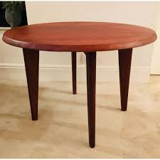 vintage round coffee table in walnut vintage designer furniture previous