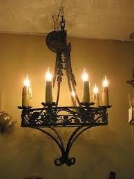 1920 s 1930 s spanish revival 8 light iron chandelier