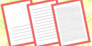 Writing Lines Template Free Kindergarten Lined Paper