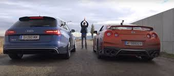 2017 Nissan GT-R vs Audi RS6 Performance Dirty Road Drag Race Is ...