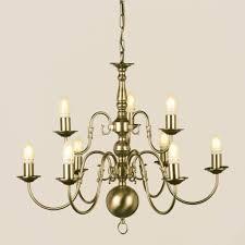 stunning impex flemish 9 light candle antique brass chandelier with brass chandelier