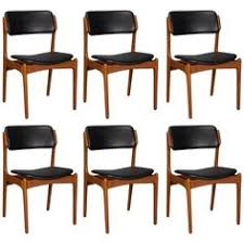 set of six danish teak and leather dining chairs by erik buch for o d mobler