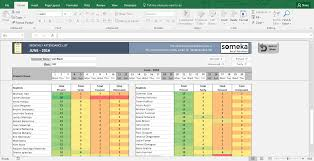 attendance spreadsheet excel attendance sheet printable excel template free download