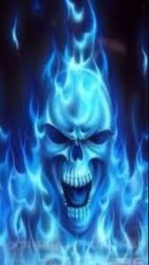 3d my name live wallpaper skull blue