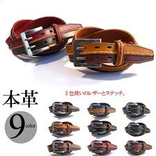 two tone stitching leather belt leather belts leather belt casual belt mens belt women s belt