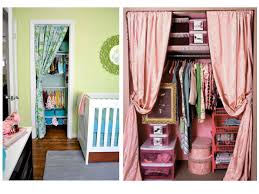 I am thinking of putting up fabric closet doors in the kid rooms and after  looking at some of these photos I am in love with the idea!
