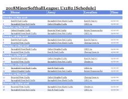 Softball Game Schedule Maker Softball Game Schedule Maker