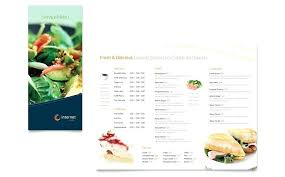 Free Menu Template Word Publisher Sample Catering Templates