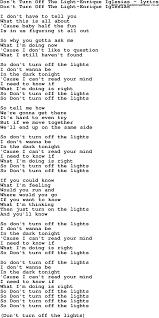 City Of Lights Song Lyrics Turn Out The Lights Lyrics Cigit Karikaturize Com