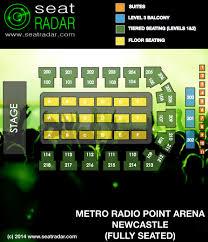 Metro Radio Arena Seating Chart Metro Radio Arena Newcastle Seatradar Com