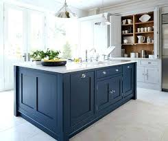 cool blue kitchen white cabinets grey gray walls