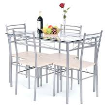 glass table with 4 chairs 5 dining set glass table and 4 chairs small glass dining