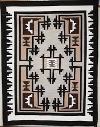 picture of two grey hill navajo rug vb