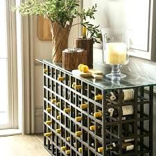 wine rack console table. Console Table With Wine Rack Cherry Wood Furniture Reclaimed Tables French Glass Top Modern