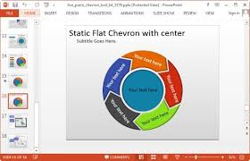 Powerpoint Chevron Template Awesome Animated Circular Diagrams With Chevron Arrows And 3d Figures