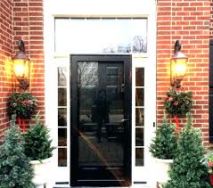 black front doors lowes. Contemporary Front Black Front Door Lowes Heritage With Sidelights Storm  Proof Doors Screen Inside Black Front Doors Lowes