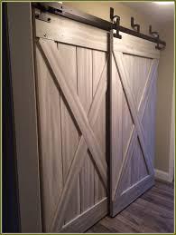 diy barn door track bypass closet door track