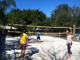 How To Build A Sand Volleyball Court In Your Backyard U2014 Jax Beach Backyard Beach Volleyball Court