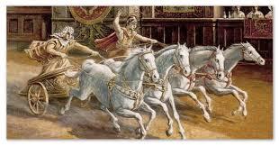 Олимпийские игры история от Древней Греции до наших дней  Состязания на колесницах в Древней Греции