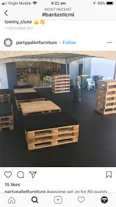 Pallet furniture for parties food catering, perth food catering, perth food  truck, perth