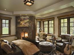 Kitchen:Rustic Decor Inspiration For Country Living Room With Traditional  Fireplace And Round Cushioned Table