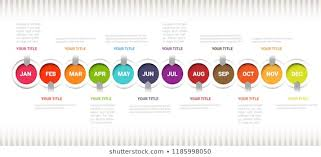 Year Timeline Template Vertical Time Line January December Timeline Stock Vector Royalty