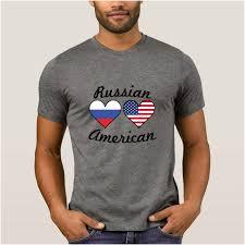 La Maxpa Design Super Mens T Shirt Russian American Flag