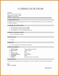Resume Examples For Freshers Resume for Freshers Download 60 Inspirational Mechanical Fresher 16