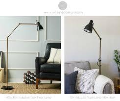 industrial inspired lighting. DIY West Elm Inspired Industrial Floor Lamp IKEA Hack Lighting H