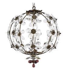 full size of living charming glass flower chandelier 20 french vintage bronze crystal pendant light fixture
