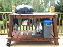 outdoor grill prep station plans table barbecue best deck accessories images on ter