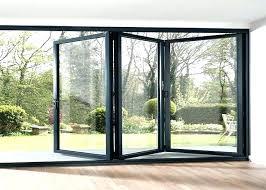 bifold glass doors folding glass doors waterproof aluminum frame folding glass patio doors aluminium framed frosted