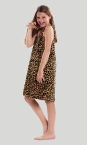 Bath Wrap Towels Kids Wraps 100 Cotton Terry Leopard Velour